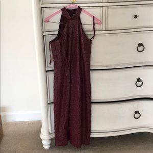 W by worth bodycon cocktail dress in wine
